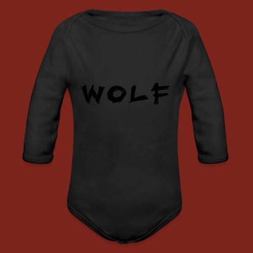 Wolf Font png - Baby bio-rompertje met lange mouwen