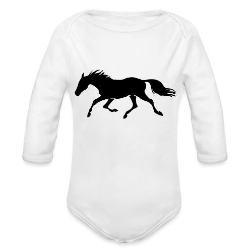 Cavallo - Body ecologico per neonato a manica lunga