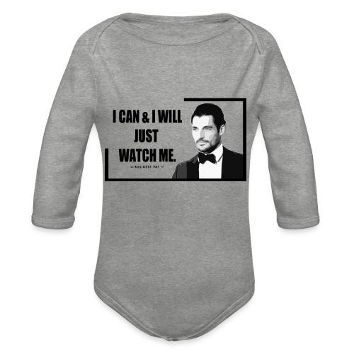 I can i will just watch me - Body ecologico per neonato a manica lunga