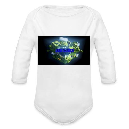 T-shirt SBM games - Baby bio-rompertje met lange mouwen