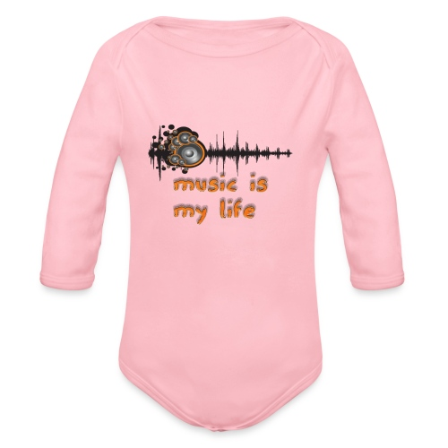 Music is my Life - Body ecologico per neonato a manica lunga