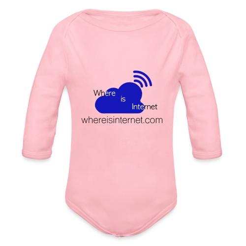 Where is the Internet - Organic Longsleeve Baby Bodysuit