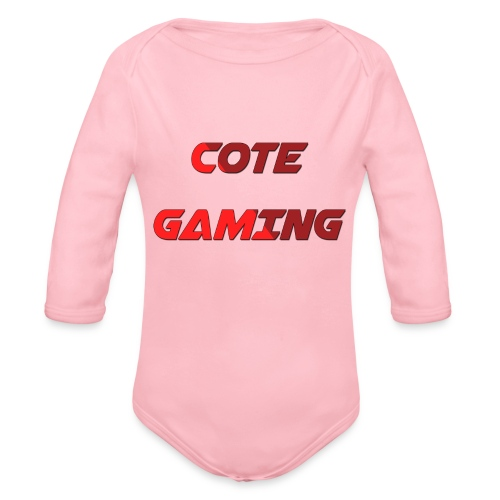 Cote Sweater Rode Letters - Organic Longsleeve Baby Bodysuit