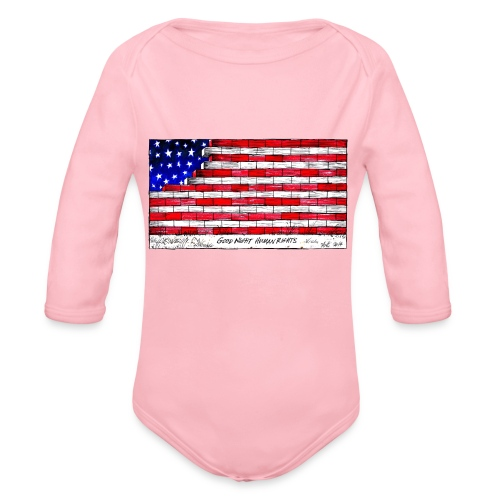 Good Night Human Rights - Organic Longsleeve Baby Bodysuit