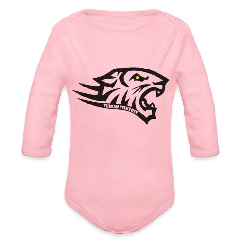 Tuiran Tiikerit tuoteperhe, pieni logo - Vauvan pitkähihainen luomu-body