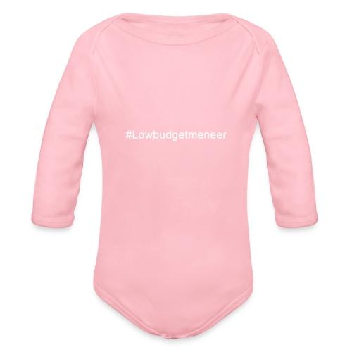 #LowBudgetMeneer Shirt! - Organic Longsleeve Baby Bodysuit