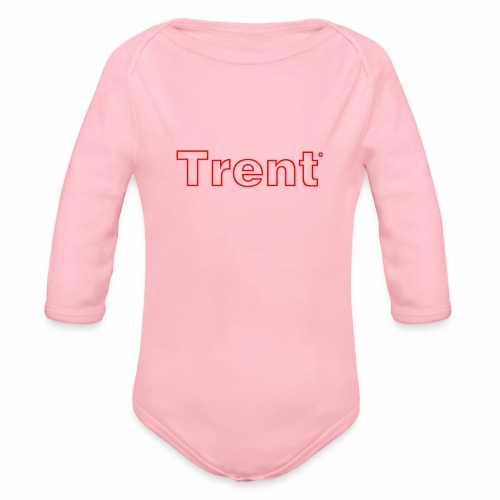 TRENT classic red - Organic Longsleeve Baby Bodysuit