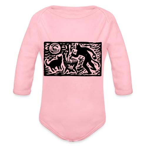 Teufel mit Katze - Baby Bio-Langarm-Body