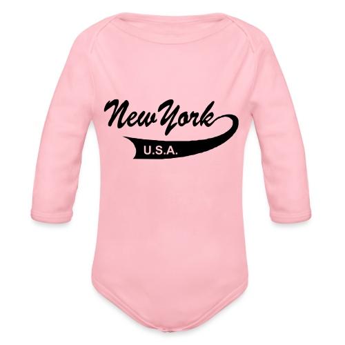 New York USA - Baby Bio-Langarm-Body