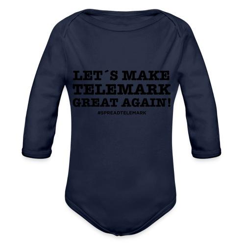 Let´s make telemark great again - Vauvan pitkähihainen luomu-body