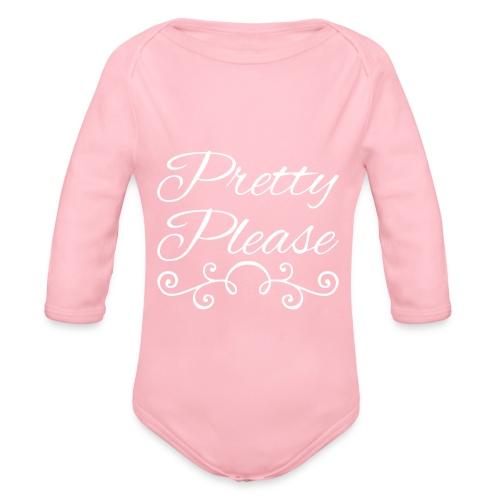 Pretty Please - Organic Longsleeve Baby Bodysuit