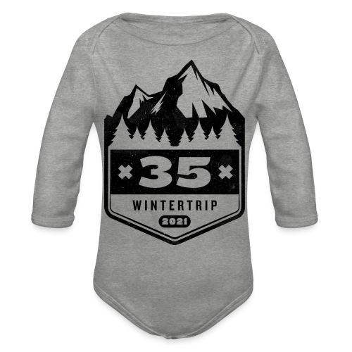 35 ✕ WINTERTRIP ✕ 2021 • BLACK - Baby bio-rompertje met lange mouwen