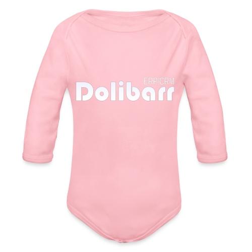 Dolibarr logo white - Organic Longsleeve Baby Bodysuit