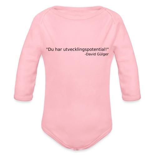 Ju jutsu kai förslag 1 version 1 svart text - Ekologisk långärmad babybody