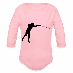 Jumping Fencer - Baby Bio-Langarm-Body