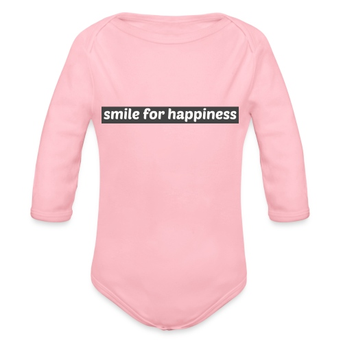 smile for happiness - Ekologisk långärmad babybody