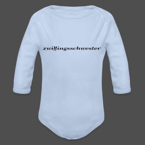 bliźniaczka - Ekologiczne body niemowlęce z długim rękawem