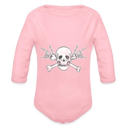 Skull with ILY Vintage - Baby Bio-Langarm-Body