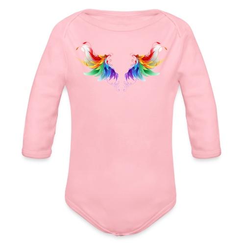 Ailes d'Archanges aux belles couleurs vives - Body Bébé bio manches longues