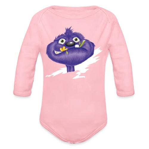 das lila Monster - Baby Bio-Langarm-Body