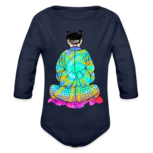Qigong exercise for pain in the legs - Organic Longsleeve Baby Bodysuit