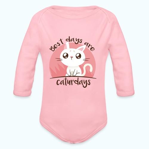 Saturdays - NO - Caturdays - Organic Longsleeve Baby Bodysuit