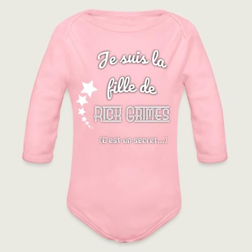 Je suis la fille de Rick Grimes - Body Bébé bio manches longues
