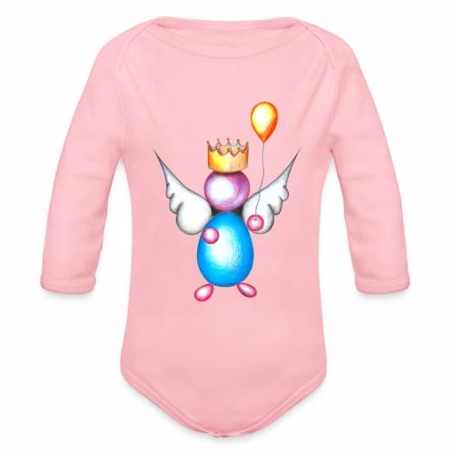 Mettalic Angel geluk - Baby bio-rompertje met lange mouwen