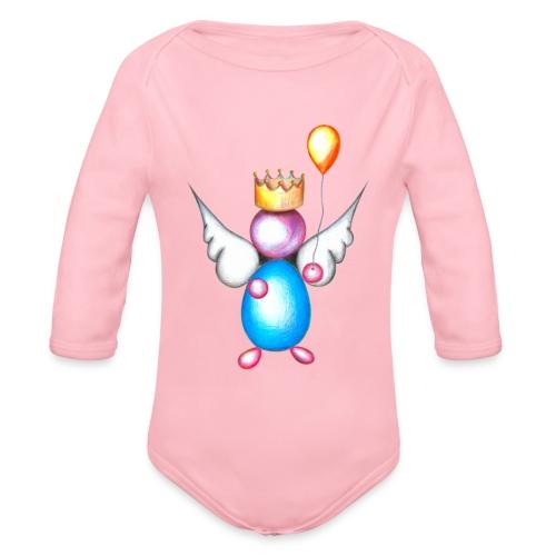 Mettalic Angel happiness - Body Bébé bio manches longues