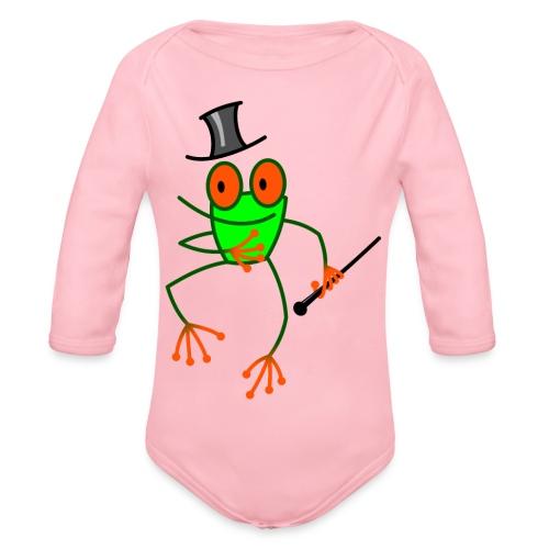 Dancing Frog - Organic Longsleeve Baby Bodysuit