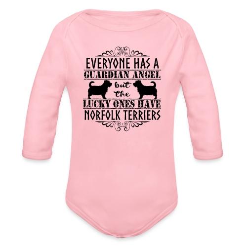 Norfolk Terrier Angels - Organic Longsleeve Baby Bodysuit