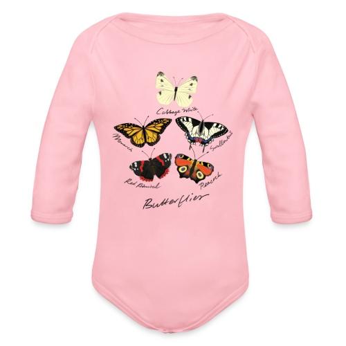 Butterflies - Organic Longsleeve Baby Bodysuit
