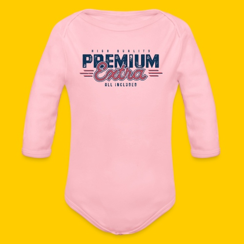 Premium - Ekologisk långärmad babybody