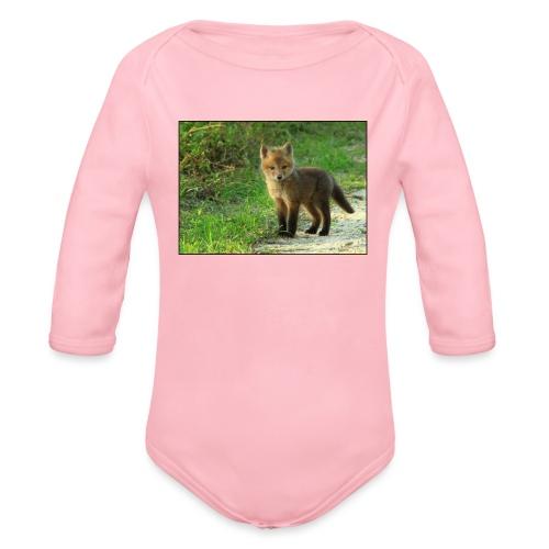 vossen shirt kind - Baby bio-rompertje met lange mouwen
