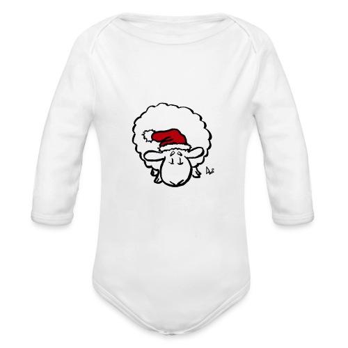 Weihnachtsschaf (rot) - Baby Bio-Langarm-Body