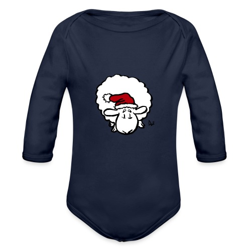 Santa Sheep (red) - Baby Bio-Langarm-Body