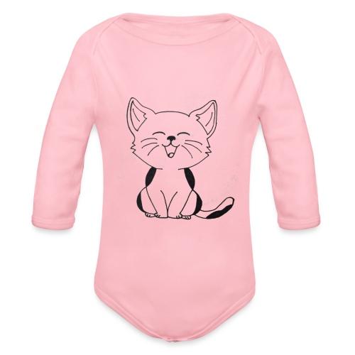 kitten - Baby bio-rompertje met lange mouwen