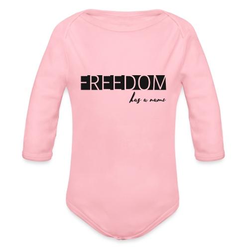 Freedom has a name - Ekologisk långärmad babybody