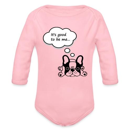 Babyb Buldog francuski - Ekologiczne body niemowlęce z długim rękawem