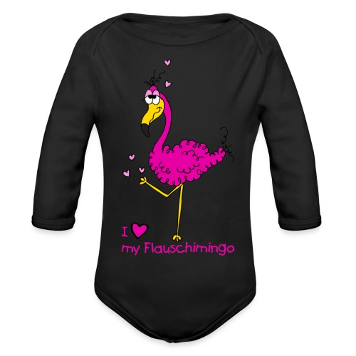 I love my Flauschimingo - Baby Bio-Langarm-Body