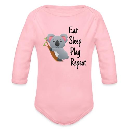 Eat Sleep Play Repeat - Baby Bio-Langarm-Body