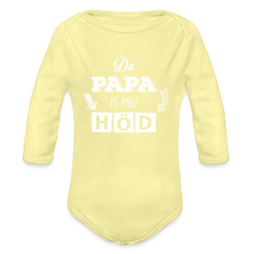Vorschau: Da Papa is mei Höd - Baby Bio-Langarm-Body