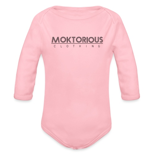 MOKTORIOUS CLOTHING - BLACK - VERTICAL - Baby Bio-Langarm-Body