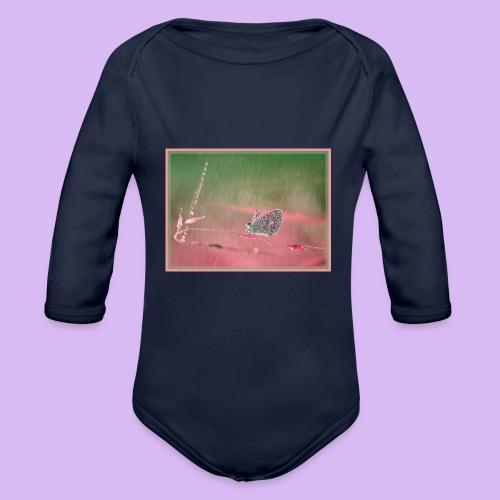 Farfalla nella pioggia leggera - Body ecologico per neonato a manica lunga