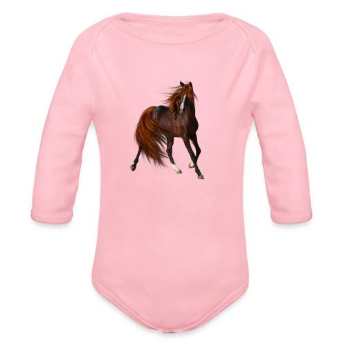 Horse Elite Edition - Organic Longsleeve Baby Bodysuit