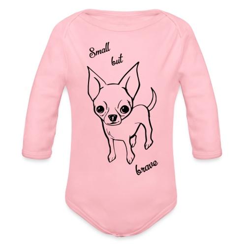 Chihuahua pies - Ekologiczne body niemowlęce z długim rękawem