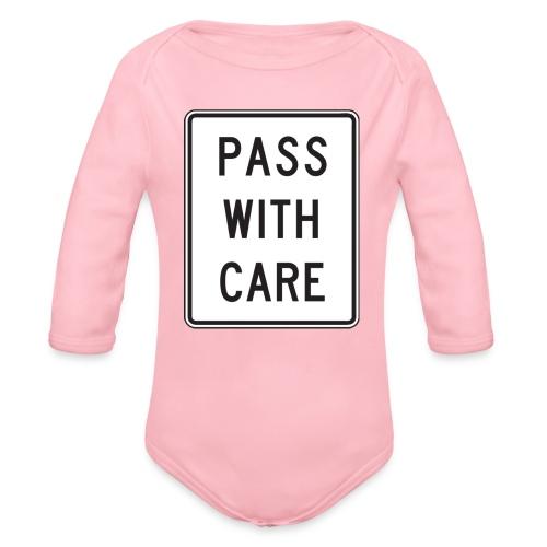 Voorzichtig passeren - Baby bio-rompertje met lange mouwen