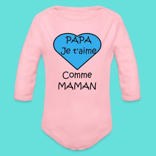 JTM PAPA - Body Bébé bio manches longues