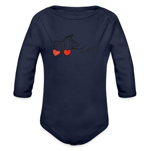 Janosch Tigerente Love Schriftzug - Baby Bio-Langarm-Body