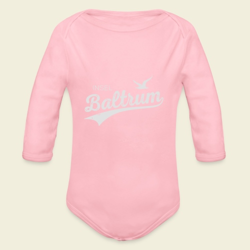 Baltrum-Logo Möwe - Baby Bio-Langarm-Body